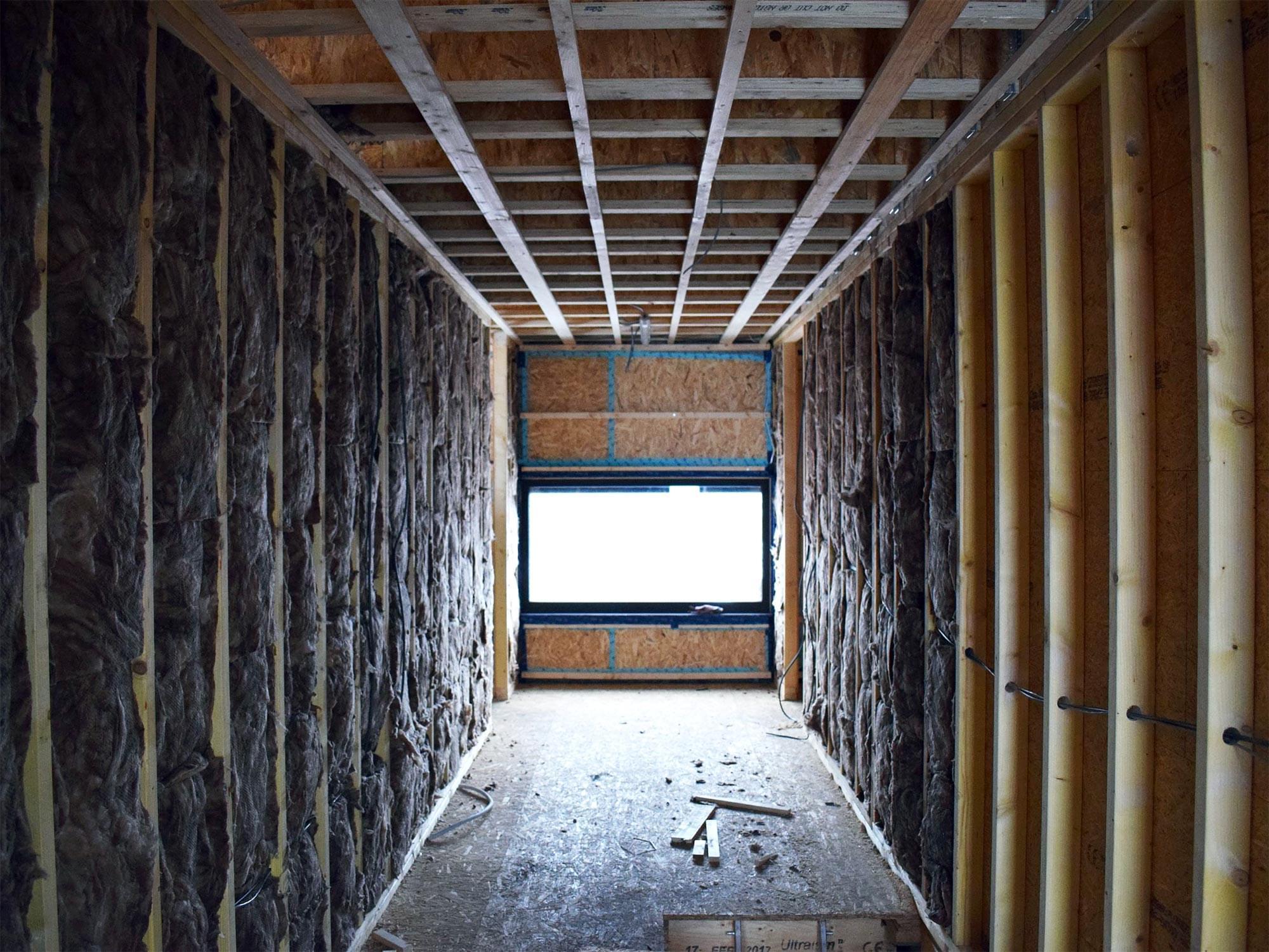 De isolatieschil van een energiezuinige woning gebouwd door Arkana.