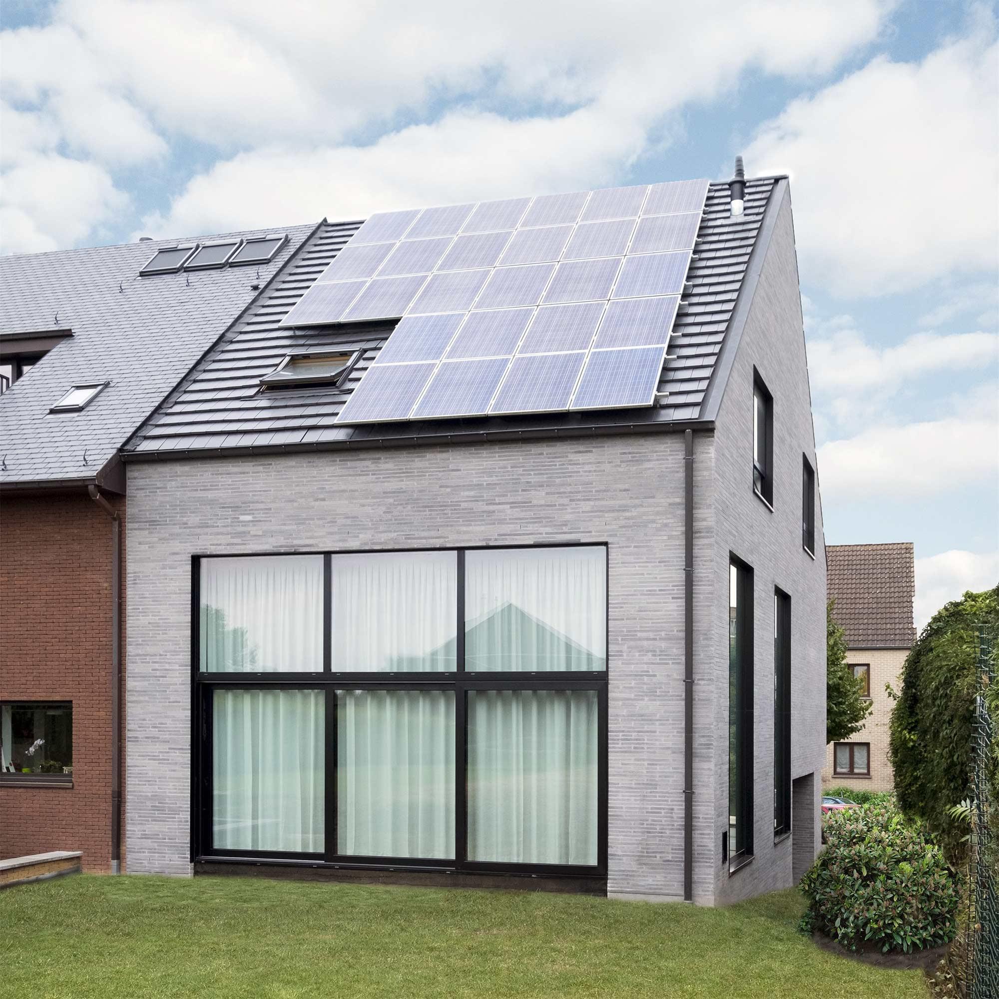 Een woning met zonnewinst, gerealiseerd door Arkana.