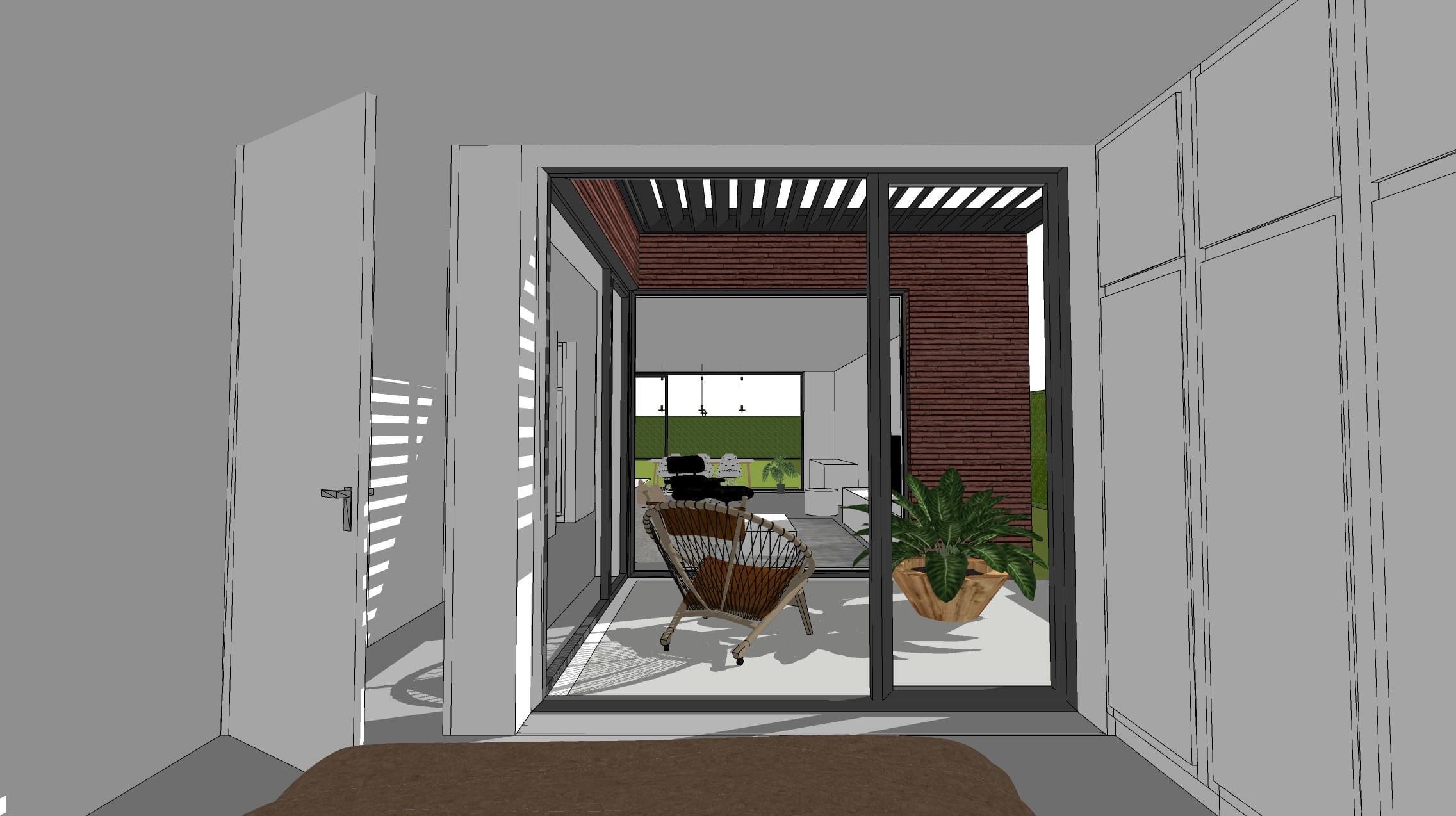 patio uit slaapkamer 2