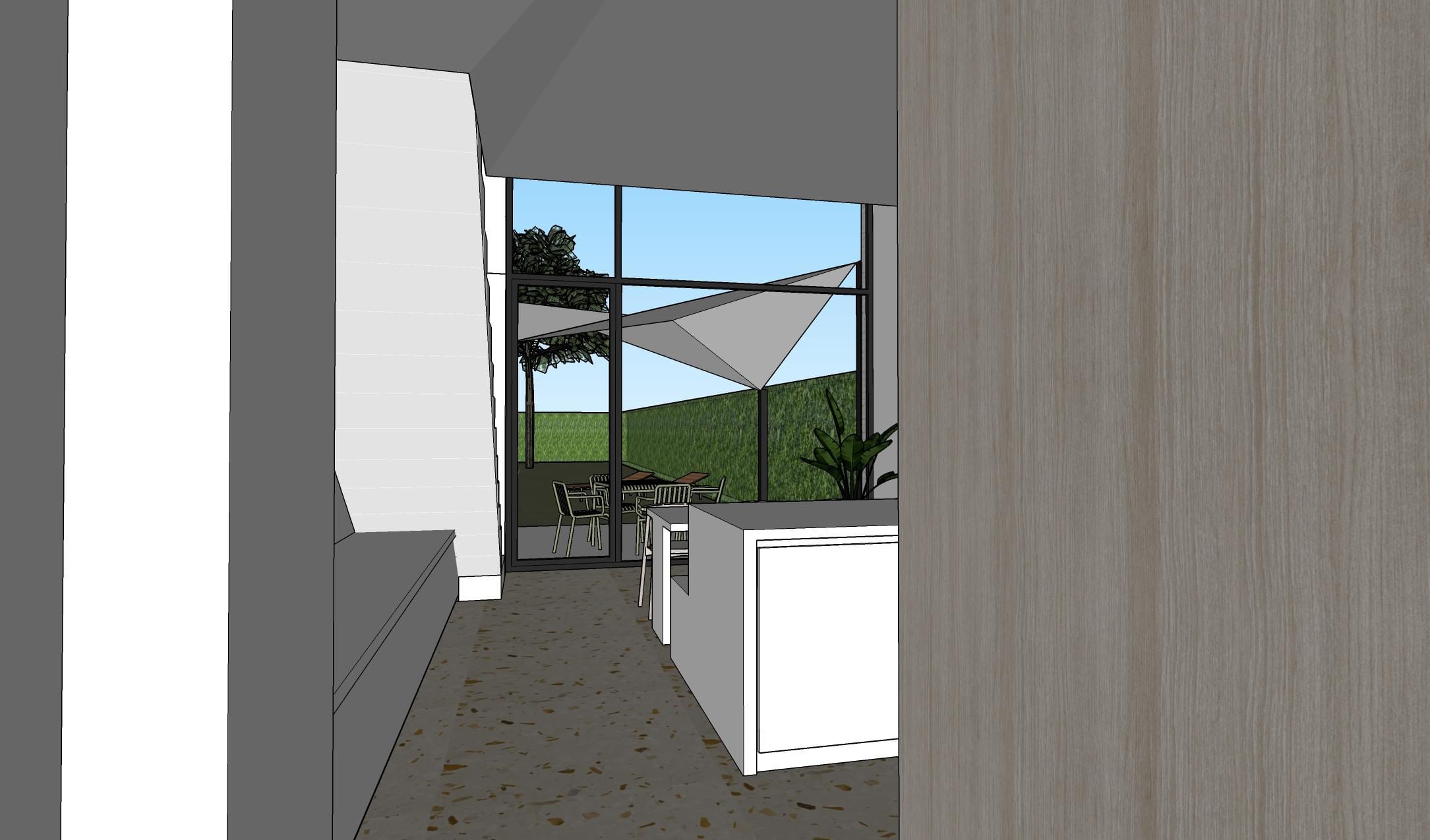 keuken eetkamer tuin